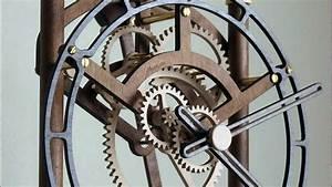 Quintus Wooden Clock - YouTube