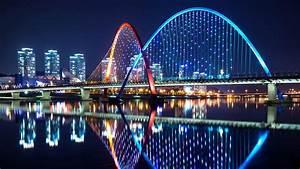 Expo Bridge At Night (Daejeon, South Korea) Wallpaper ...