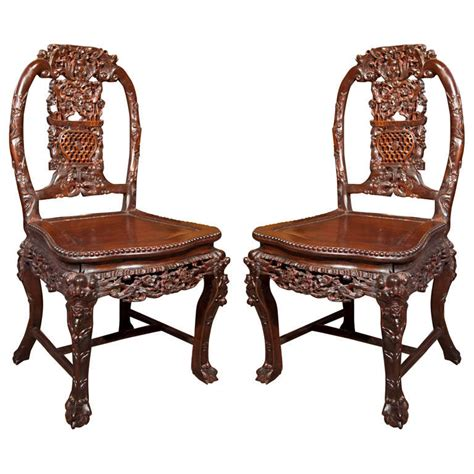 pair carved chairs for sale at 1stdibs