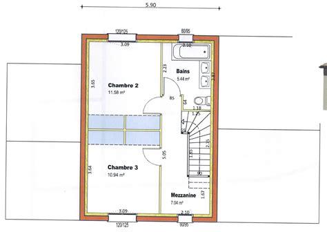 plan maison a etage 3 chambres plan maison etage 2 chambres 36 deco maison peinture