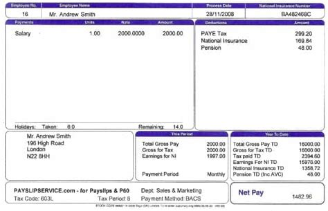 payslip templates  printable word excel