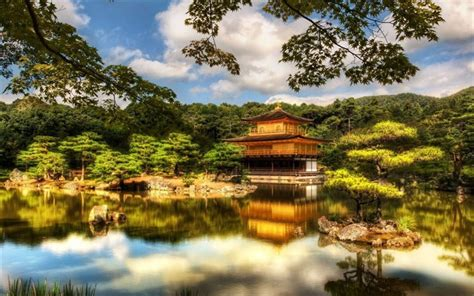 4k hdr landmarks zen japanese garden temple ryoanji japan kyoto wallpapers desktop