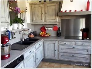 relooking d39une cuisine esprit industriel idee cuisine With peindre un parquet ancien en blanc 5 renovation maison ancienne bonnes idees et relooking
