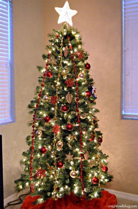 White Flocked Pre Lit Christmas Tree by Red And Gold Christmas Tree Michaels Dream Tree Challenge