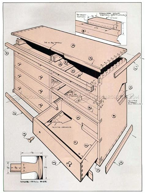 weavers chest  drawers plans woodarchivist
