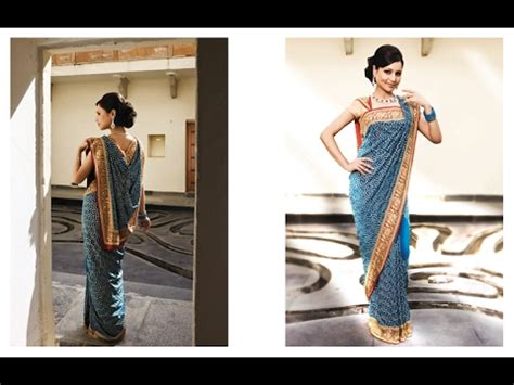 How To Drape Saree Perfectly - how to drape wear saree of flat front pallu with thin
