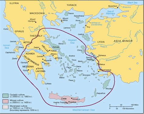 Carte Du Monde Grece Crete by Crete Minoenne