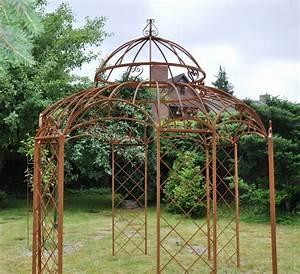 Gartenpavillon Aus Metall : gartenpavillon metall romantik rost 400cm ~ Michelbontemps.com Haus und Dekorationen