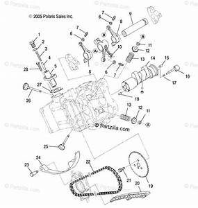 Polaris Atv 2007 Oem Parts Diagram For Engine  Intake  U0026 Exhaust
