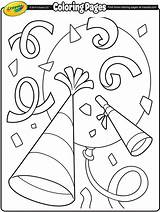 Coloring Pages Crayola Confetti Happy Printable Number Getcoloringpages Clock sketch template