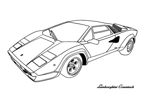 Coloring Lamborghini by Cars Lamborghini Countach Cars Coloring Pages Cars