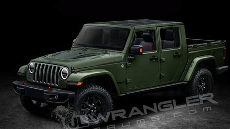 jeep wrangler scrambler pickup   diesel engine option revealed