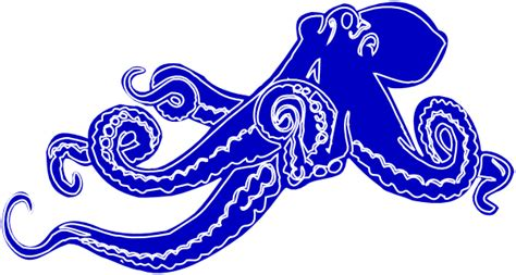 blue ocotopus clip art  clkercom vector clip art