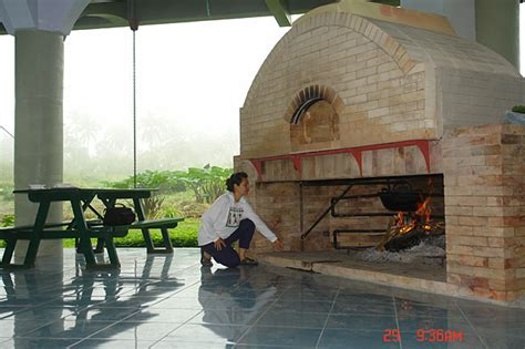 brick oven fireplace cook food  heat water