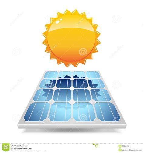 panneau solaire avec le soleil photo stock image 25390490