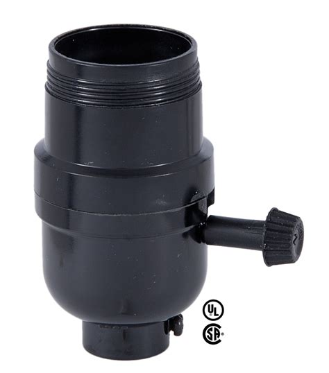 uno socket l base medium base e26 on off turn knob l socket with uno