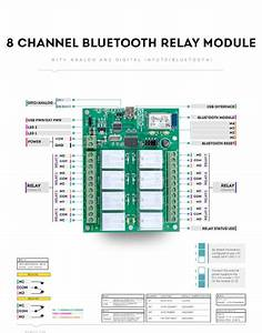 8 Channel Bluetooth Relay Module With Gpio