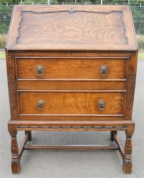oak writing bureau uk jacobean style oak writing bureau 356034
