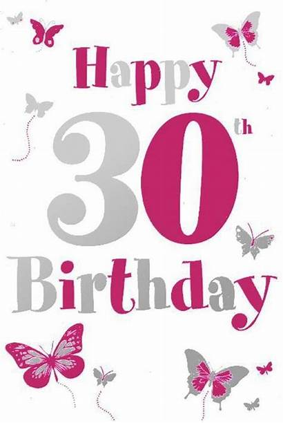30th Birthday Happy Cliparts Clipart Quotes Card