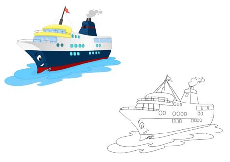 Boat Pictures For Kindergarten by Cruise Ship Coloring Pages For Kindergarten And Preschool