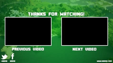 Minecraft Youtube Outro Free! By Saiverx On Deviantart