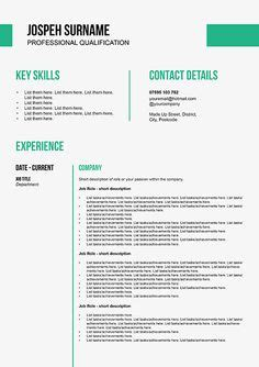 1000 images about cv templates on resume cv