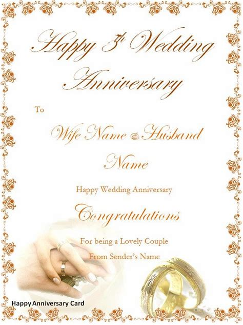 word Templates: Happy Anniversary Cards