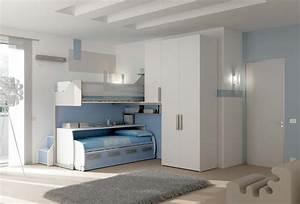 Lit Superposé Ado : chambre enfant avec lit bureau mobile moretti compact ~ Farleysfitness.com Idées de Décoration