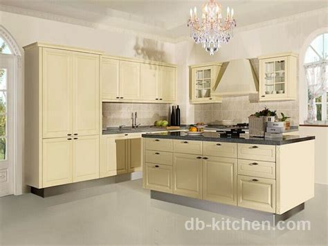 european style beige color kitchen cabinet classic design