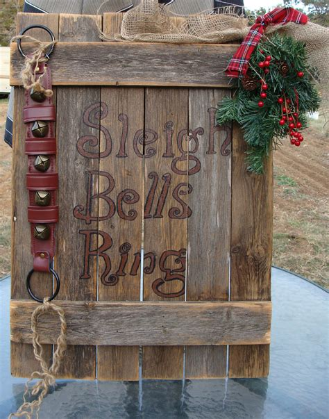 rustic christmas mantle sign sleigh bells ring rustic christmas large by dables