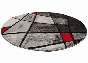 Tapis Rond Rouge : tapis rond pesaro rouge ~ Teatrodelosmanantiales.com Idées de Décoration