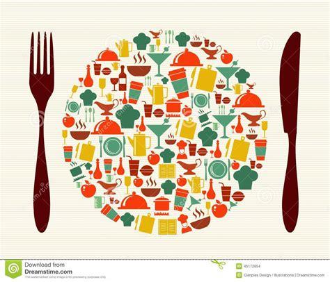illustration cuisine food and restaurant concept illustration stock vector illustration 45172654