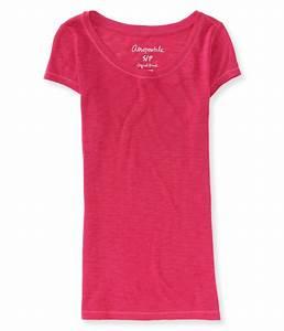 Aeropostale Womens Solid Basic T-Shirt | eBay
