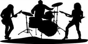 Rock Band Silhouette Clipart - The Cliparts