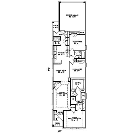 hawken narrow lot home plan   house plans
