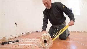 Plancher chauffant electrique sous un parquet colle for Plancher chauffant electrique parquet