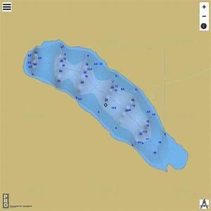 Paw Lake Fishing Map Ca Sk Paw Lake Sk