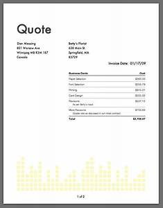 On the job professional time expense tracking and for Quote invoice template