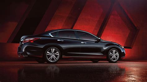 nissan altima side view black color  night  road