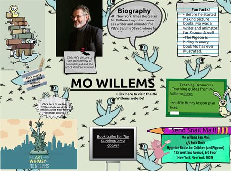 mo willems text images  video glogster