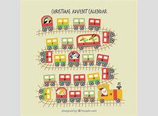 Christmas train advent calendar Vector Free Download