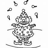 Coloring Clown Juggling Juggler Boy Sheet Circus Games Animation Comics Unique sketch template