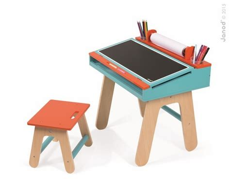 bureau janod achat bureau et chaise orange et bleu 3 5 ans sur