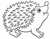 Hedgehog Coloring sketch template