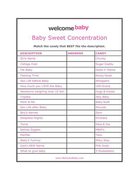 Free Baby Shower Games Printable Worksheets  Printable 360 Degree