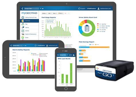 geotabs open platform fleet management solution
