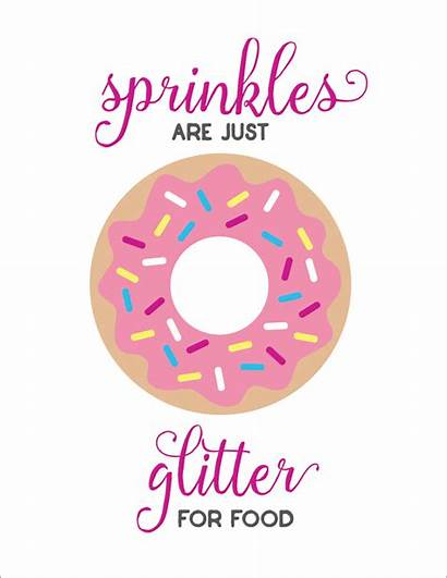 Sprinkles Donut Printable Glitter Quotes Donuts Donas