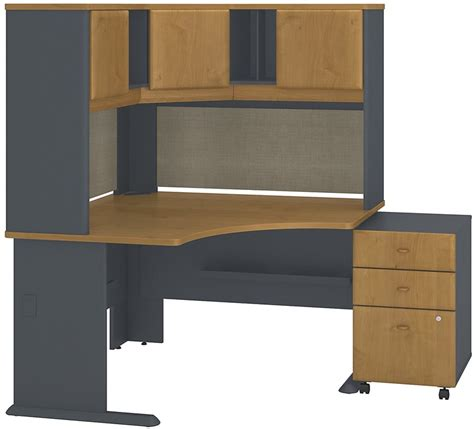 ncsu computer help desk series a collection 48 w x 48 d corner desk with hutch