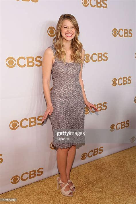 Actress Melissa Benoist attends the 2015 CBS Upfront at ...