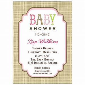 letter perfect girl baby shower invitations paperstyle With baby letters for baby shower